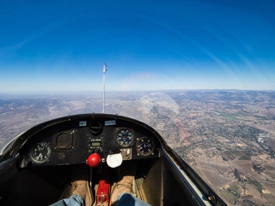 Solvang Inn and Cottages: This is me gliding from Santa Ynez Airport just east of Solvang on the 246.
