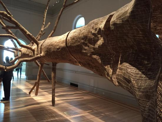 Renwick Gallery: A tree made of tree pieces
