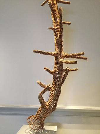 Renwick Gallery: Tehran tree made from tree pieces