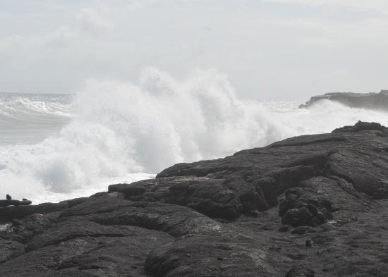 Aloha Tuesday Tours-Private Day Tours: These rocks/cliffs were attached to one of the beautiful black sand beaches that we visited