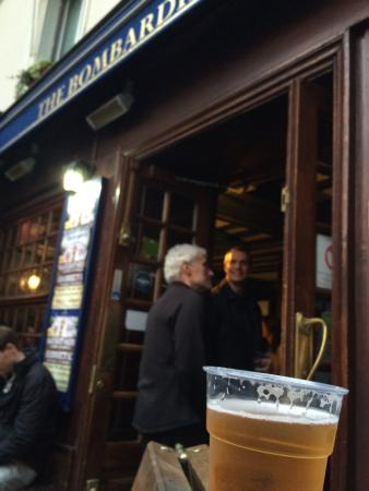 At the Bombardier pub, Paris