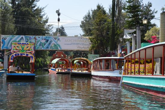 Boats At The Wharf Picture Of Floating Gardens Of Xochimilco Mexico City Tripadvisor