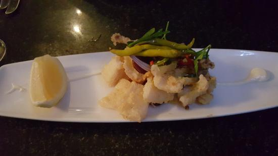 Jellyfish Restaurant: small plate of octopus for the price of AUD26.50