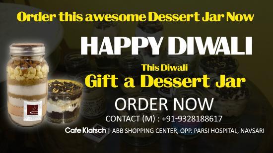 Cafe Klatsch: Dessert Jar @Diwali