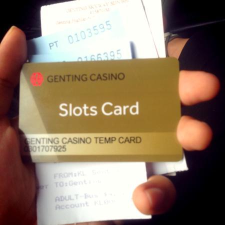 Genting Highlands Theme Park: Kartu untuk bermain Casino