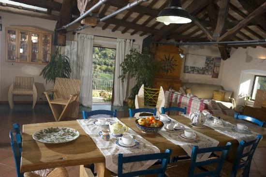 Casperia, Италия: panoramic breakfast room