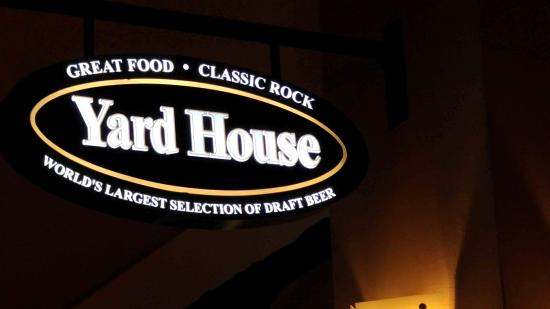 """Yard House: """"Welcoming sign"""""""