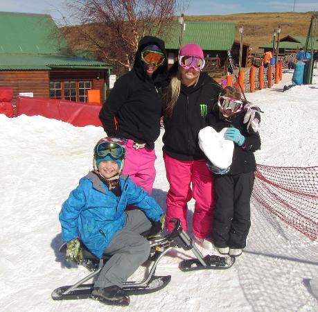 Tiffindell Ski Resort: bumboarding
