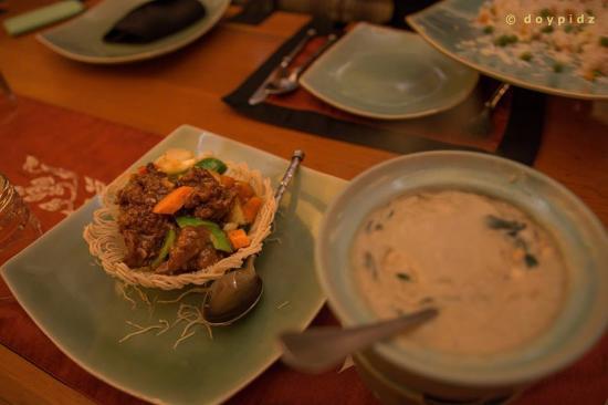 Thai Thai Restaurant: our order, delicious