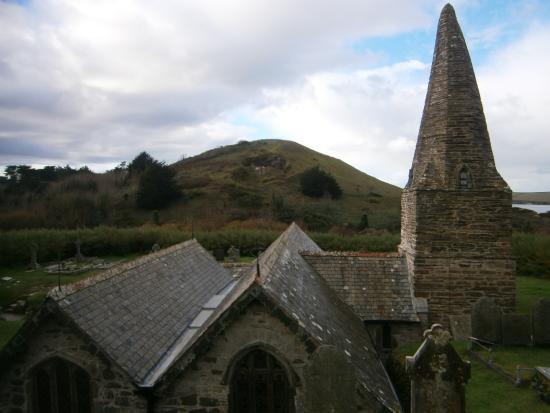 Trebetherick, UK: Church in the dunes