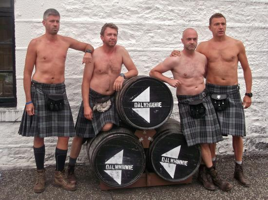 Hardy Scots at Dalwhinnie Distillery