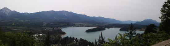 Faak am See, Austria: Aussicht vom Kletterpark Hochhinauf (Taborhöhe)