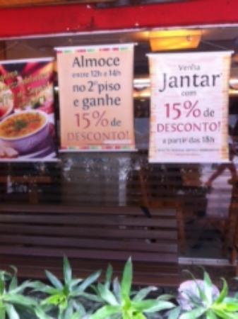 Restaurante Estacao Sabor: Me sinto enganada