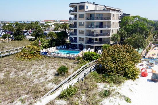 Gulf Strand Resort View From The Beach