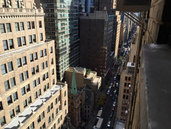 looking out the window picture of stewart hotel new york city