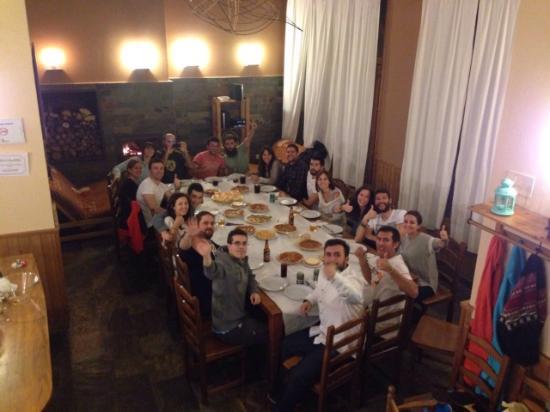 Provincia de Ávila, España: Cena en grupo