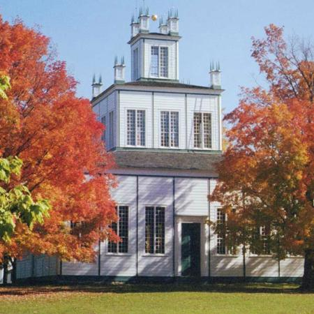 Sharon Temple: The Temple during the fall