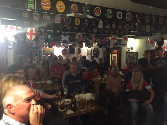 Roch, UK: We love rugby down the vic, it's allways nail biting stuff watching Wales play