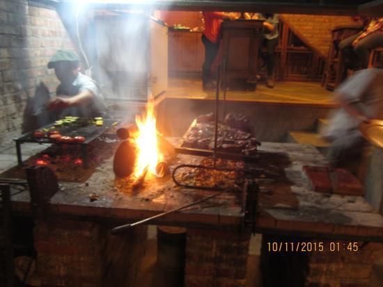 The Lodge at Estancia Huechahue: Cooking the Steak
