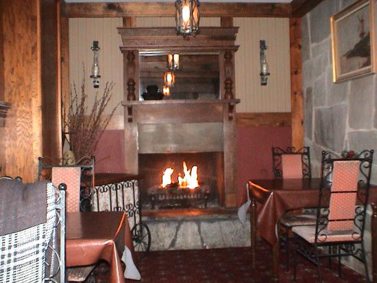 The gas fireplace in the East room - Picture of Five Alls ...