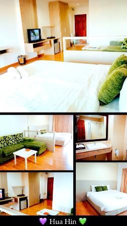 Baan Klang Hua Hin Condo & Resort: ห้องพักใหญ่ สะดวกสบาย