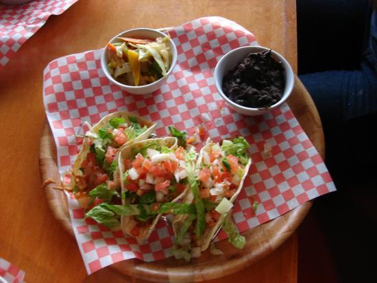 Mexican Amigos: Lazaros Tacos (3) and Black Beans