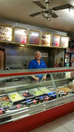 Best kebab house this side of calais served by Joe. Skinny guy in picture.