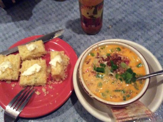 Elk Rapids, MI: Jalapeño Cornbread and Crawfish Corn Chowder