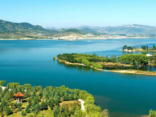 Shandong, Chine : Wenlai xueye Lake