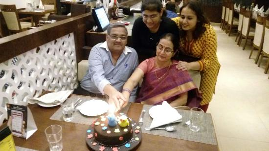 The Yellow Chilli: Cake cutting ceremony ,30th Marriage Aniv