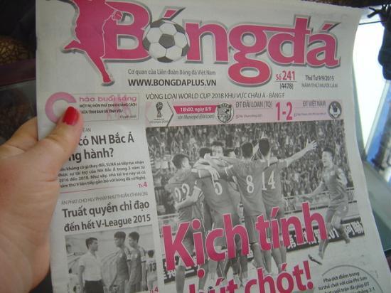 Vina Hotel Hue: En recepción disponen de periódicos para los clientes