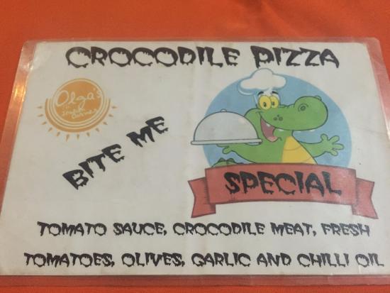 Olgau0027s   The Italian Corner: Pizza De Crocodilo