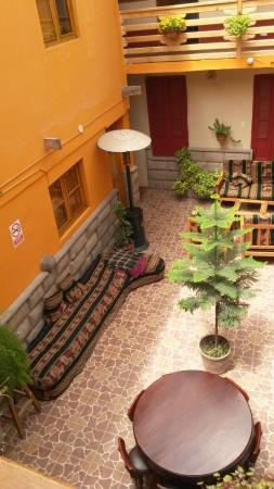 La Posada del Viajero Hostal: Área de convivência