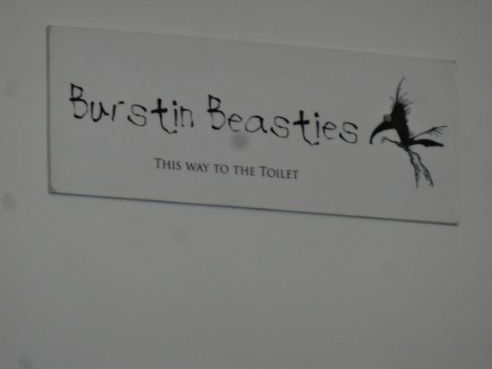 Ravenous Beastie: Humerous sign on the toilet door