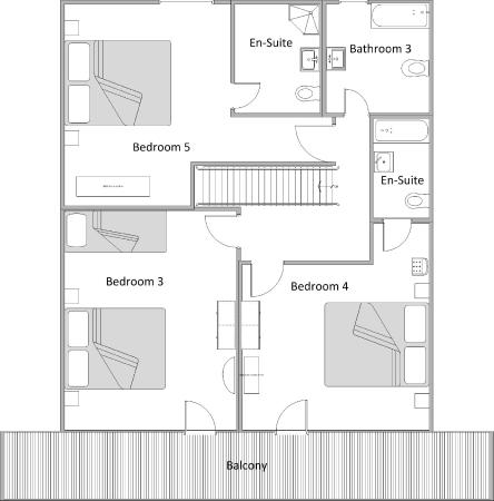 Upper Floor Plan Chalet Annabelle