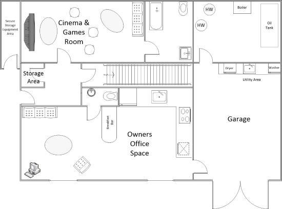 Lower Floor Plan Chalet Annabelle