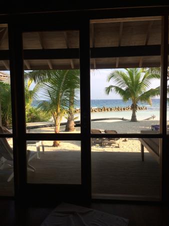 Beach villa view inside