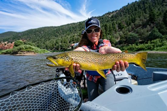 Edwards, CO: Colorado River brown trout.  Book you float trip today!
