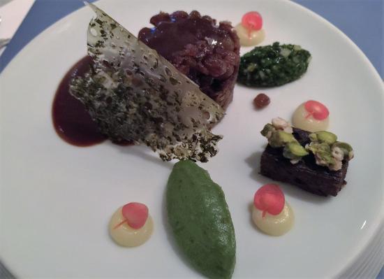 Dorsten, Deutschland: Hauptgericht mit Müritzlamm