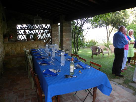 Podere San Luigi: Monday dinner for their guests