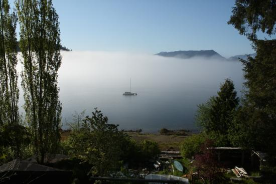 Coal Harbour, Canada: Vue depuis la salle du petit déjeuner