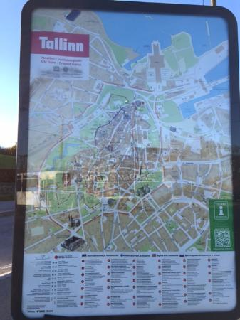 Map of Old Town Tallinn Picture of Tallinn Old Town Tallinn