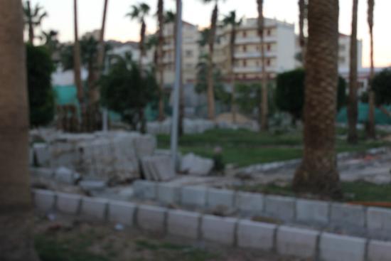 Festival Shedwan Golden Beach Resort: Garten/Park mit Baustelle