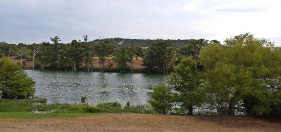 The Lakehouse: Lake behind restaurant