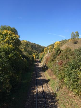 Rottweil, Germany: Neckartal Crossing the train lines