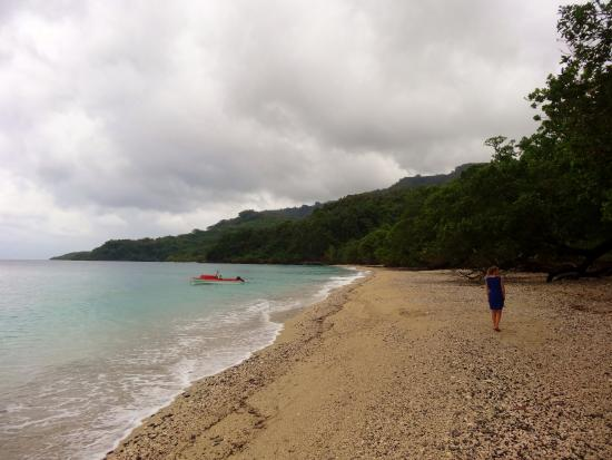 Pentecost Island, Vanuatu: The village is beside the sea