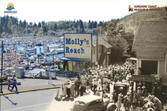 Gibsons, Kanada: Blended Historical Photograph (Justin Samson photo blend)