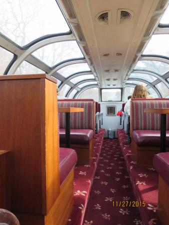 Etowah, TN: Dome section of the train