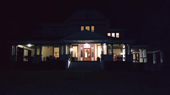 The Inn At Glen Alpine: Me sitting ont the porch at night!
