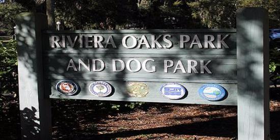 Holly Hill, FL: Entrance to Riviera Oaks Dog Park
